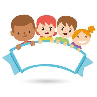 Group of children volunteering