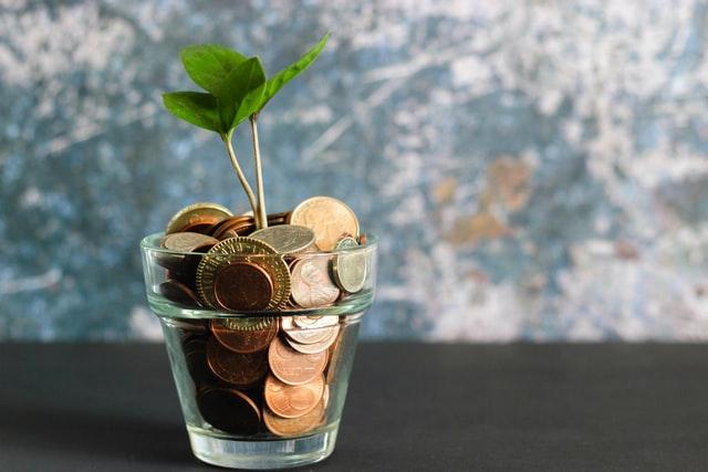 Money in jar